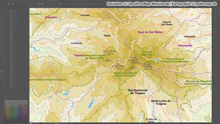 Karte Gran Canaria, Vektorkarte Karte Gran Canaria, Inselkarte Karte Gran Canaria, Basiskarte Karte Gran Canaria, Übersichtskarte Karte Gran Canaria, Karte Karte Gran Canaria mit Gemeindegrenzen, Karte Karte Gran Canaria Höhenschichten, Karte Gran Canaria Topographie