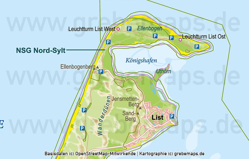 Karte Sylt, Vektorkarte Sylt, Karte Sylt für Print, Karte Sylt für Druck, Inselkarte Sylt, Übersichtskarte Sylt, Basiskarte Sylt, Sylt Karte Vektor