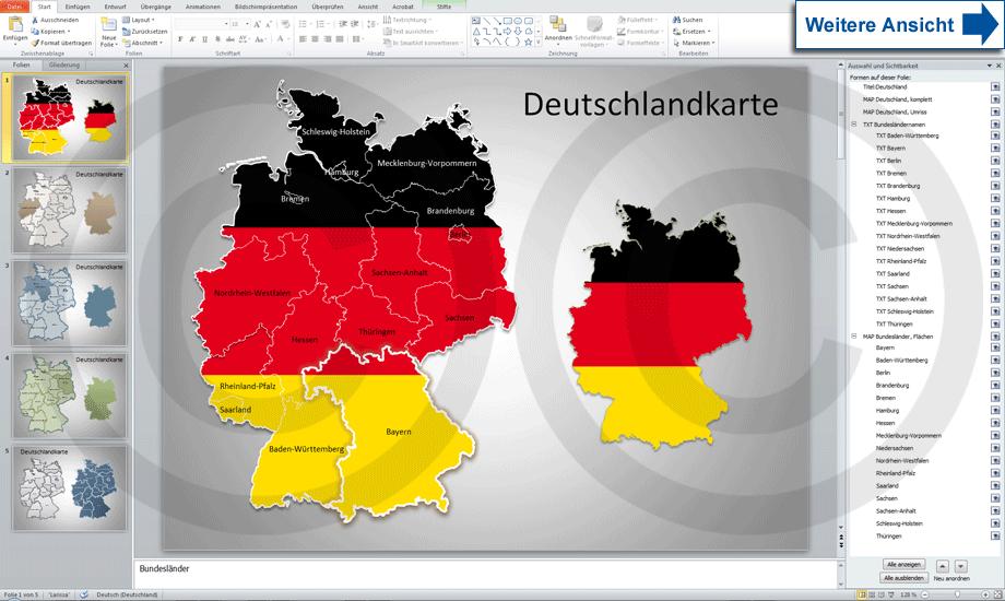 Deutschlandkarte PowerPoint