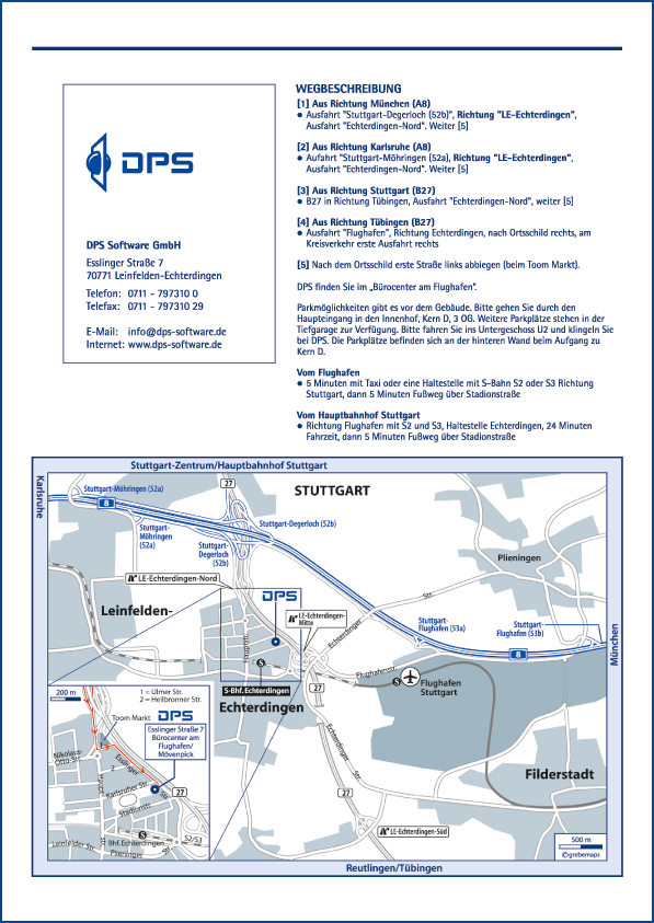 Karte Leinfelden-Echterdingen (DPS)