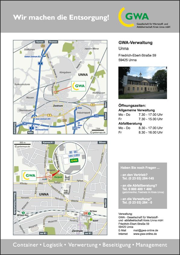 Karte Unna (GWA)