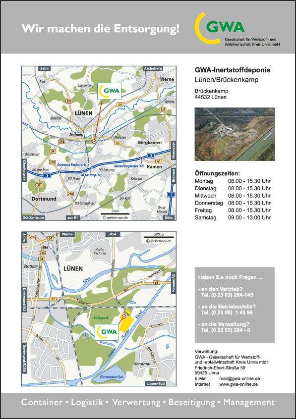 Karte Lünen (GWA)