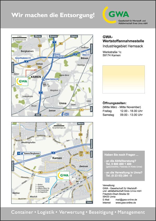 Karte Kamen (GWA)