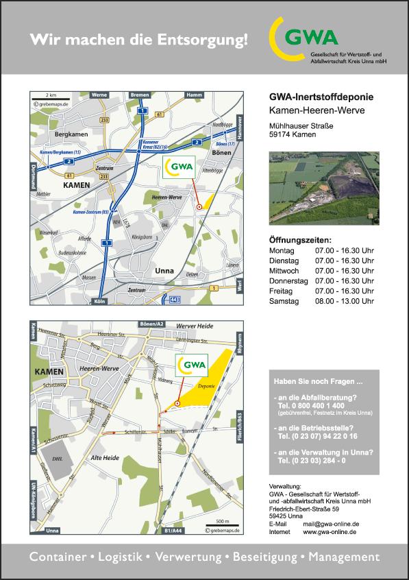 Karte Kamen-Heeren (GWA)