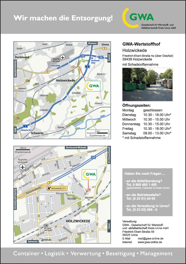 Karte Holzwickede (GWA)