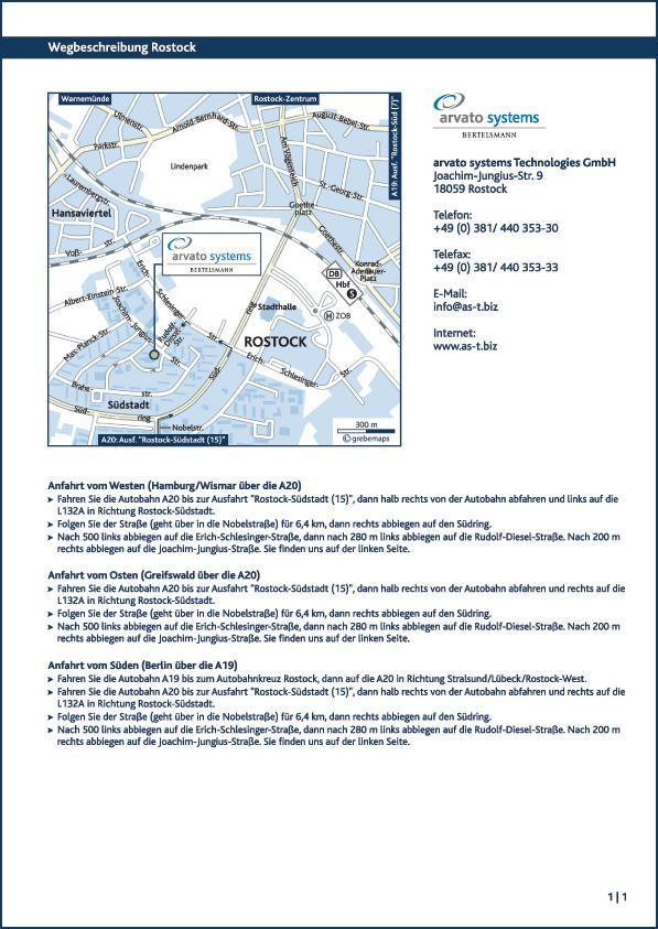 Karte Rostock (arvato)