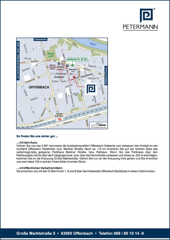 Karte Offenbach (Petermann)