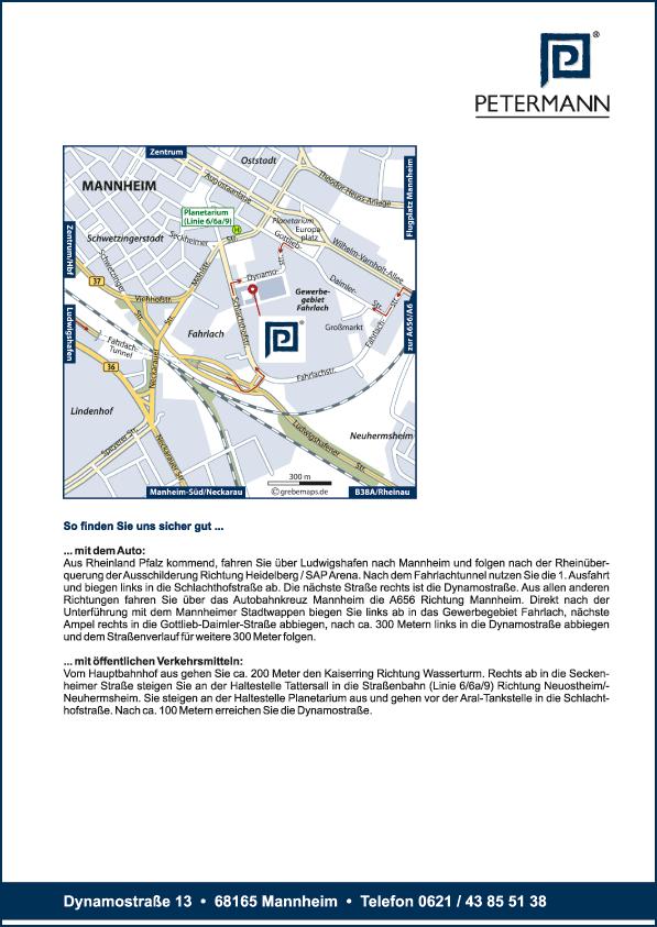 Karte Mannheim (Petermann)
