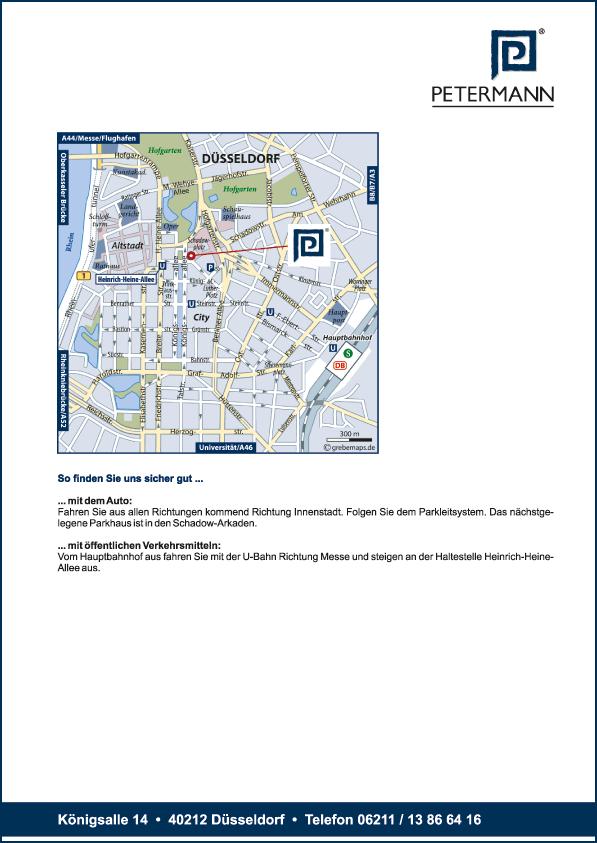Karte Düsseldorf (Petermann)