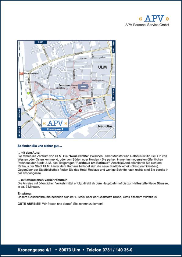 Karte Ulm (APV)