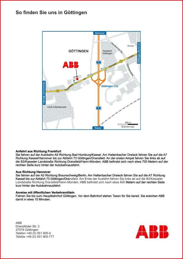 Karte Göttingen (ABB)