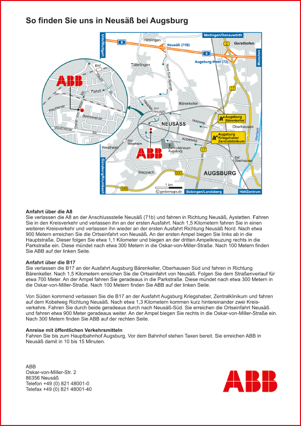 Karte Neusäß (ABB)