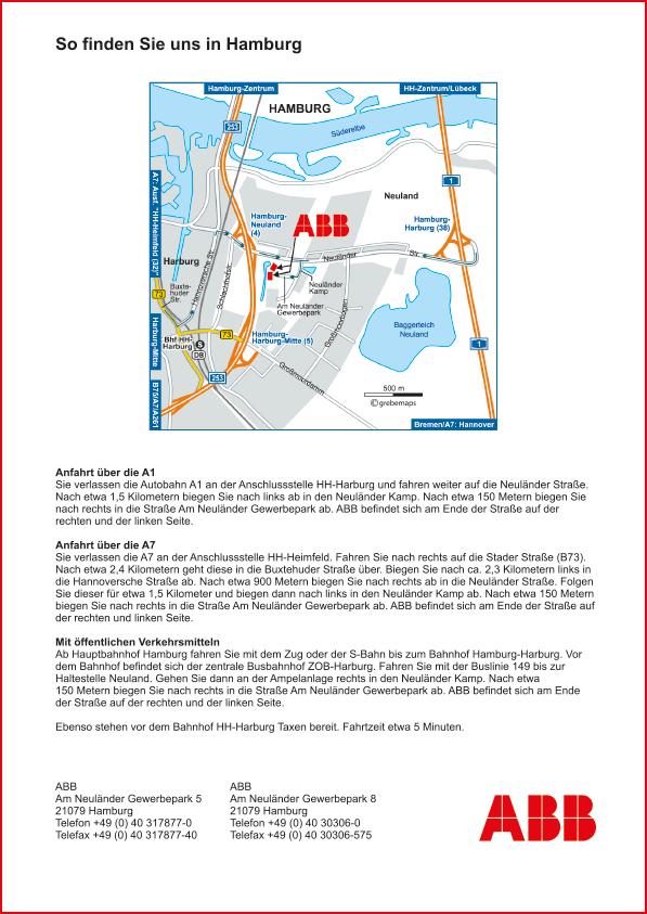 Karte Hamburg (ABB #2)