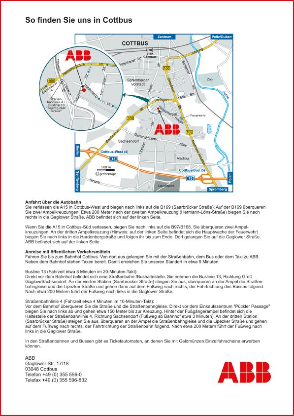 Karte Cottbus (ABB)