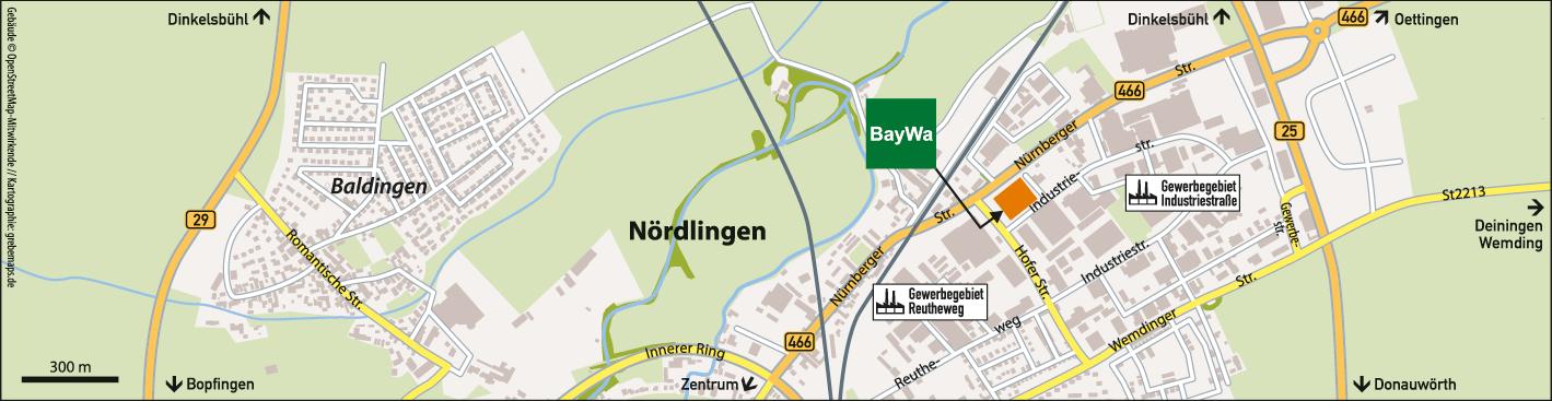 Karte Nördlingen (BayWa)