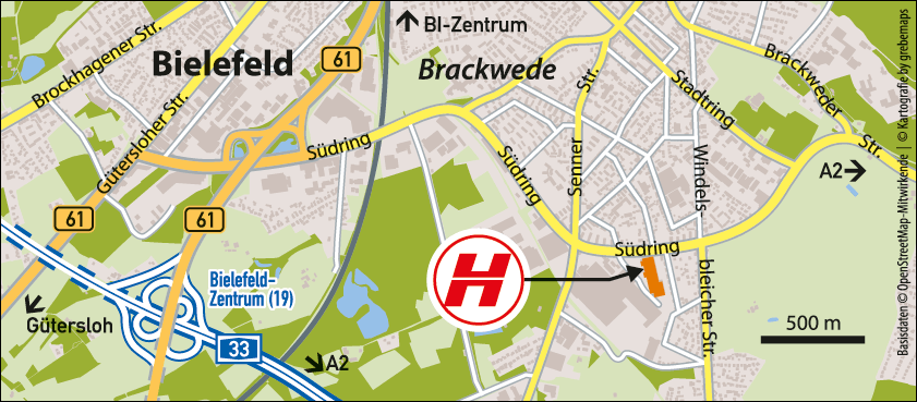 Karte Bielefeld (Hellweg)