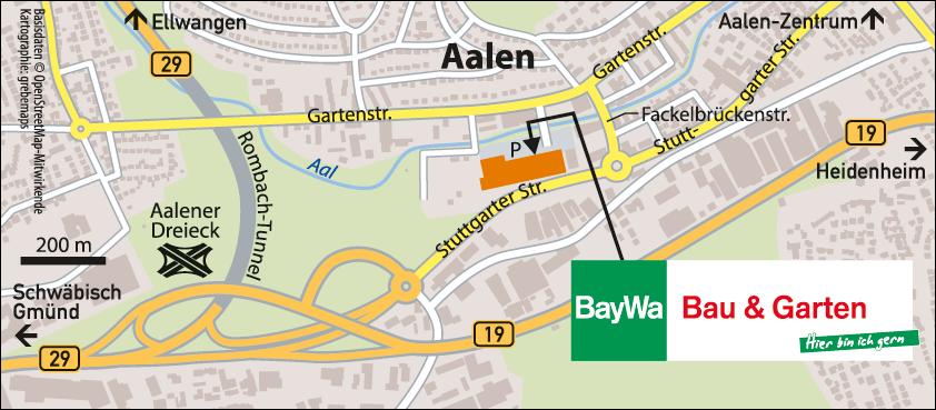 Karte Aalen (BayWa)