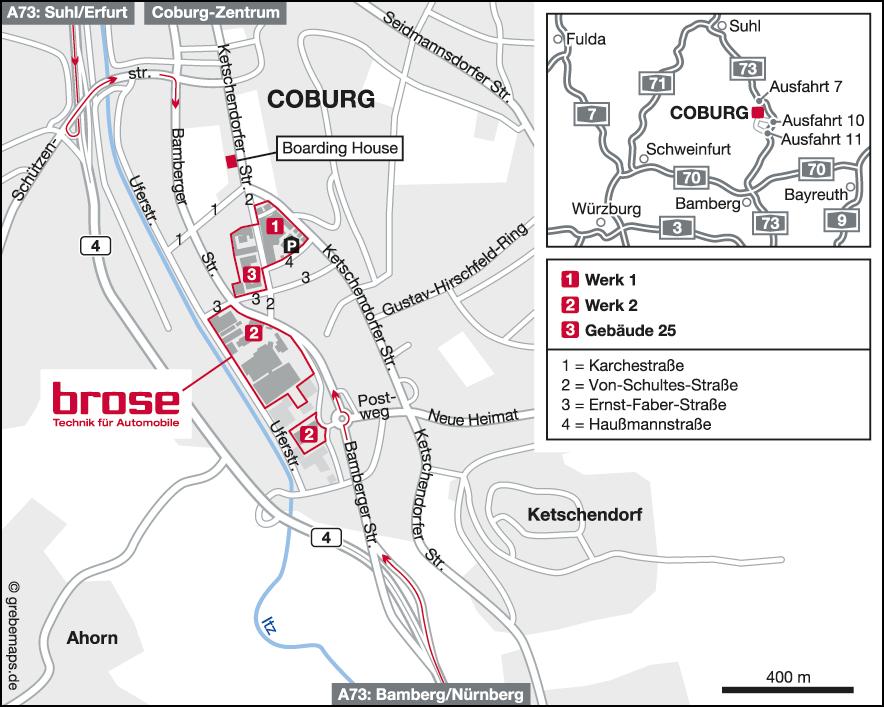 Karte Coburg (Brose)