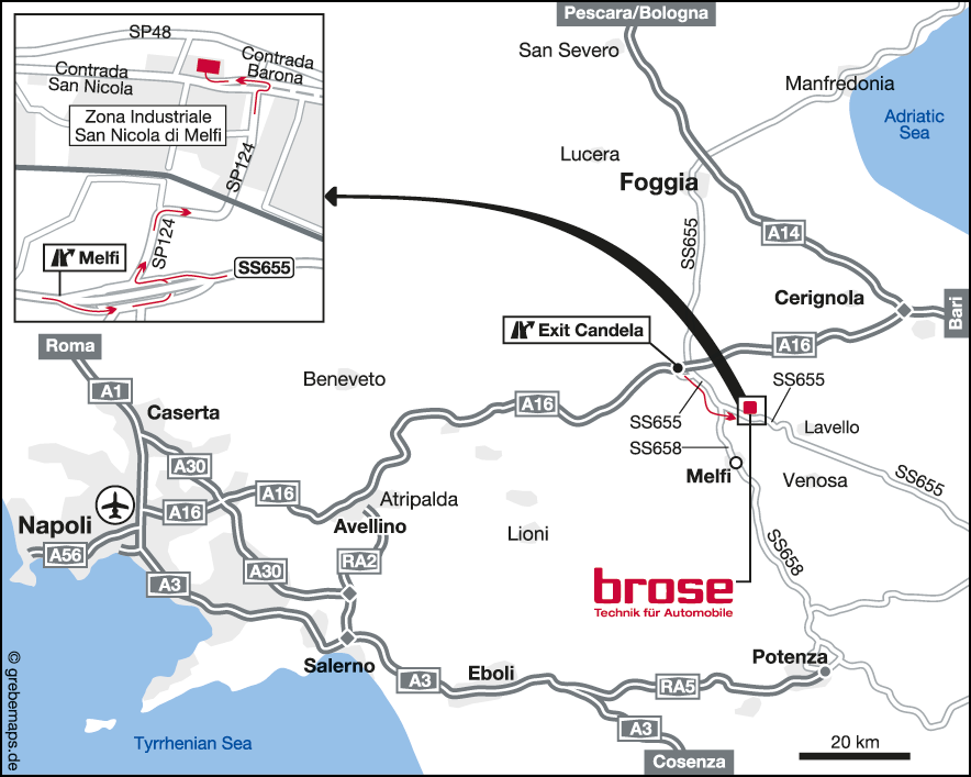 Karte I-Melfi (Brose)