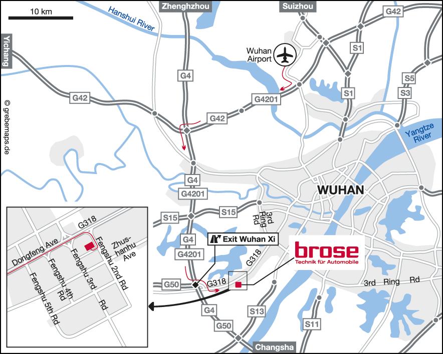 Karte CHN-Wuhan (Brose)