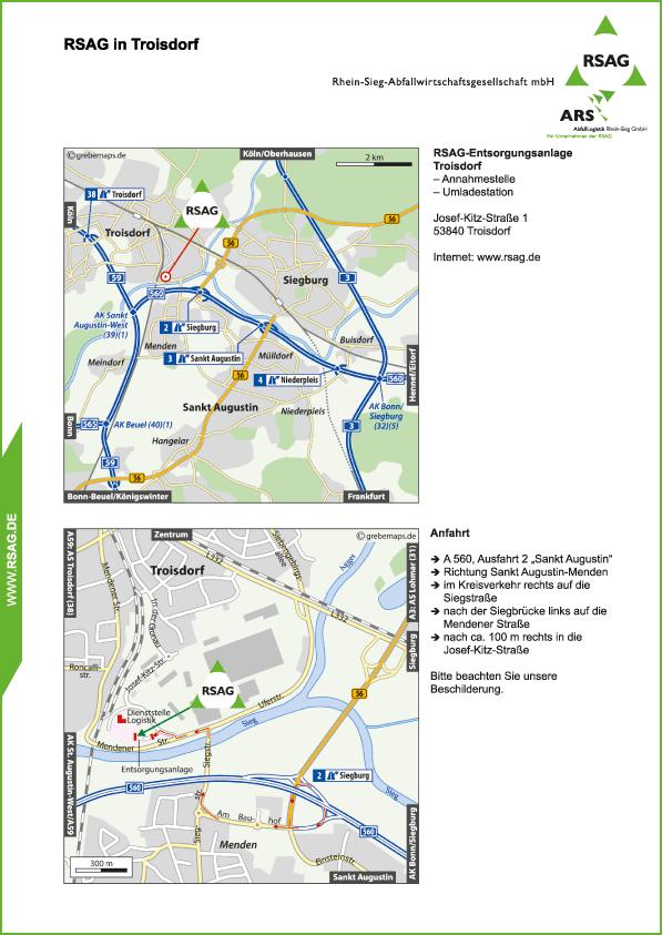 Karte Troisdorf (RSAG)