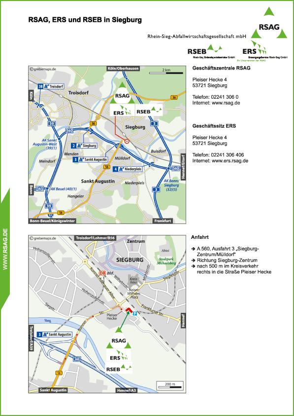 Karte Siegburg (RSAG)