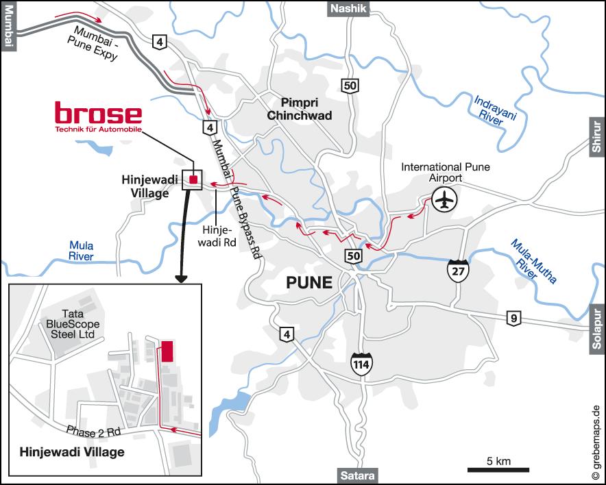 Karte IND-Pune (Brose)