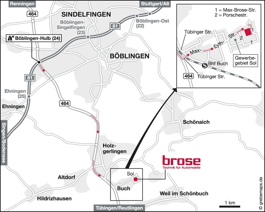 Karte Böblingen (Brose)