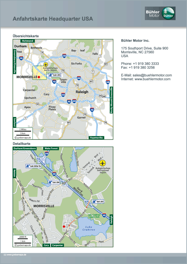 Karte USA-Morrisville (BM)