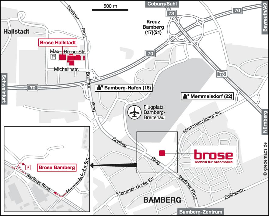 Karte Bamberg (Brose)