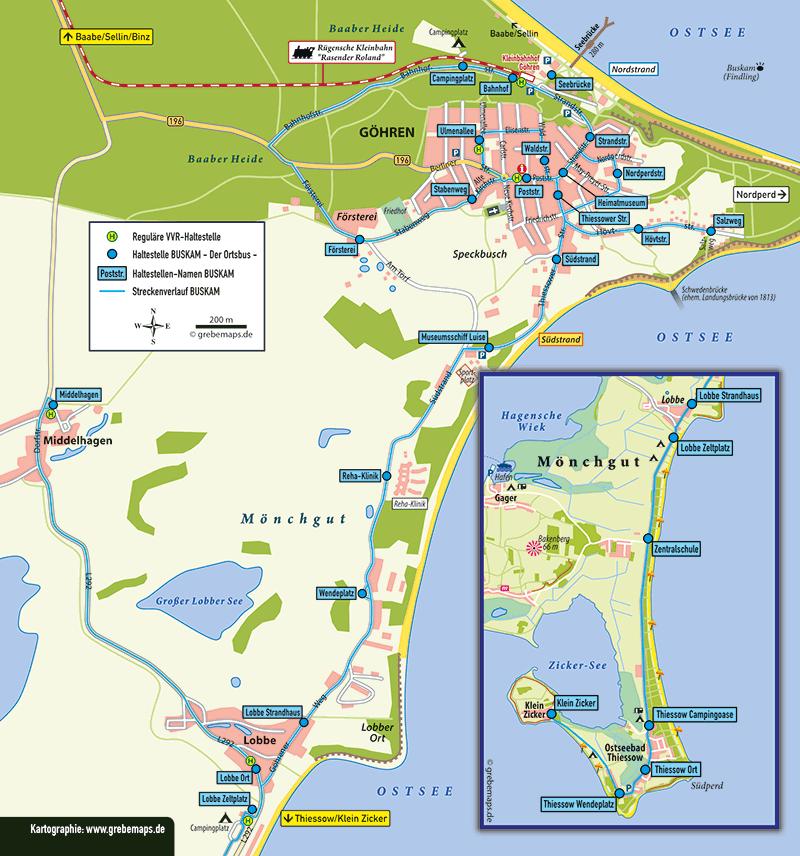 Touristische Karte Göhren