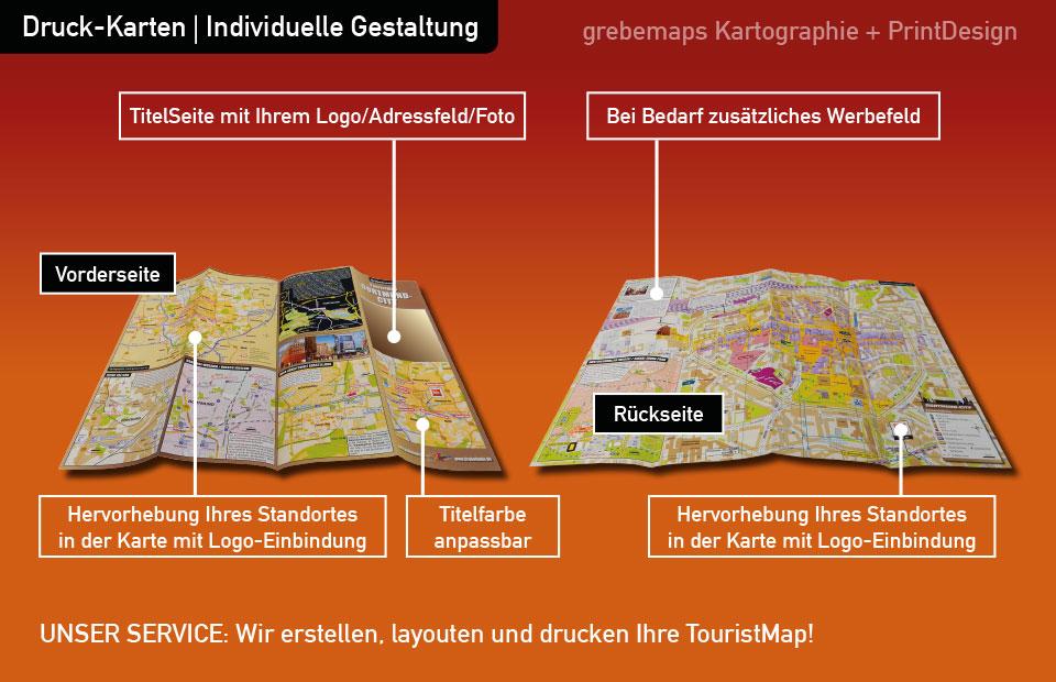 Flyer erstellen, Druck-Karten, TouristMaps, Flyer, Karten, Stadtplan drucken, Ortsplan drucken, gestalten, Ortsplan erstellen, Stadtplan erstellen, Karte erstellen, Layout, layouten, Print, Druck, Flyer, Block, Folder, Falzflyer