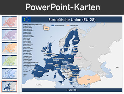 PowerPoint-Karten, PowerPoint, Karten, Deutschland, Europa, editierbar