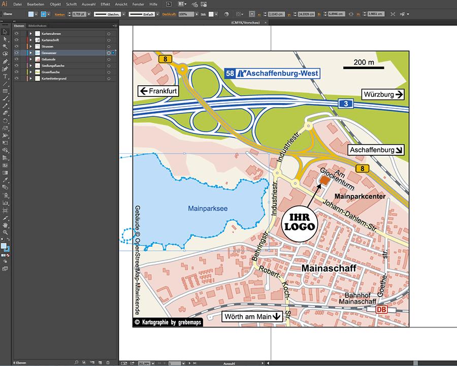 Karten für Grafiker, Illustrator, Grafik, Kartengrafik, AI, Datei, Ebenen, Karte erstellen Illustrator, ebenen-separiert, Karte, Lageplan, Immobilie, OpenStreetMap, kostenlose Openstreetmap-Daten, Straßenkarte, Ortsplan, Stadtplan, touristische Karte, Tourismuskarte, Wanderkarte, Lageplan, Anfahrtsskizze, Anfahrtskarte