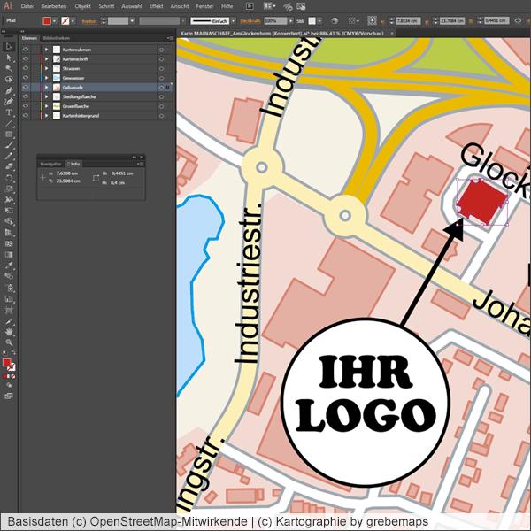 Karten für Grafiker und Unternehmen, Illustrator, Vektorgrafik, Kartengrafik, Karte aus OpenStreetMap-Daten, kartographische Aufbereitung, Vektor, AI, Datei, E-Mail-Versand, zum Download, kaufen, erstellen, Landkarte, Straßenkarte, Anfahrtsskizze, Anfahrtskarte, Anfahrtsplan, Wegbeschreibung erstellen