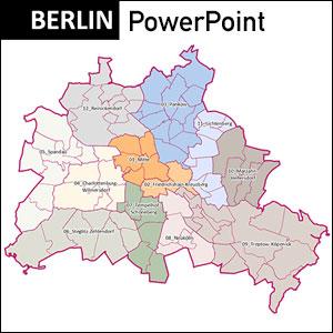 Berlin Stadtkarte, Bezirke, Stadtteile, Berlin, Stadtplan Übersicht, PowerPoint, Vektorformat, Vektorgrafik, Kartengrafik, Vektor, Karte aus OpenStreetMap-Daten extrahiert und kartographisch aufbereitet