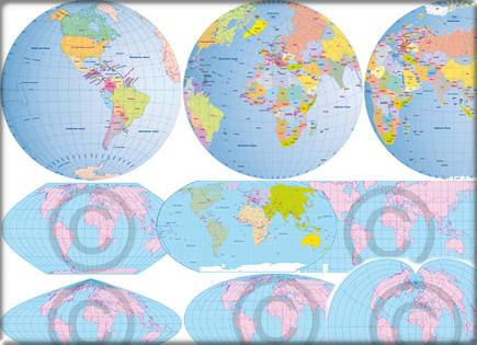 Weltkarte / Vektorkarte / Vektorgrafik