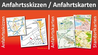 Anfahrtsskizze erstellen, Standort-Visualsierungen, Lageplan erstellen, Wegbeschreibung erstellen, Anfahrtskarte erstellen