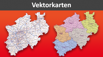 Vektorkarten für Illustrator, Karte für PowerPoint, vector map illustrator, Karte für Illustrator, Vektor Karte, Karte Vektor, AI, Download, Deutschland, NRW