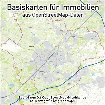 Basiskarte für Immobilien erstellen, Stadtkarten erstellen, Basiskarte erstellen aus OpenStreetMap-Daten