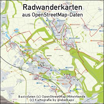 Radwanderkarte erstellen aus OpenStreetMap-Daten, Karte Radwandern erstellen, touristische Karte erstellen