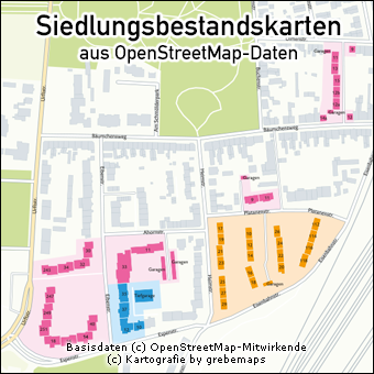 Sieldungsbestandskarten erstellen aus OpenStreetMap-Daten, Karte Siedlungsbestand erstellen