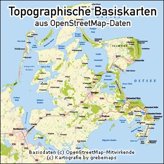 topographische Basiskarten, Karte Topographie, Karte mit Topographie erstellen