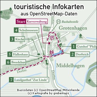 touristische Infokarte erstellen aus OpenStreetMap-Daten, touristische Karte erstellen