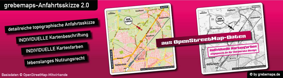 Anfahrtsskizze erstellen, Anfahrtsskizzen erstellen, Anfahrtskarte erstellen, Wegbeschreibung erstellen, Anfahrtsplan erstellen, Anfahrtskizze, Anfahrtsbeschreibung erstellen, Lageplan erstellen, Karte aus kostenlosen OpenStreetMap-Daten erstellen