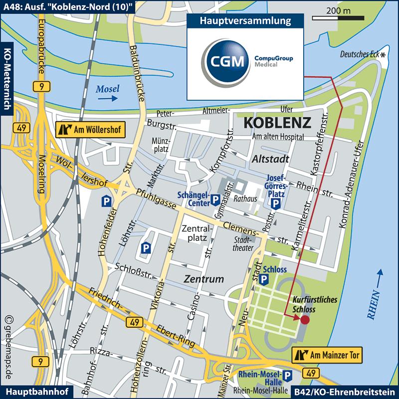 Anfahrtsskizze erstellen Koblenz (CGM)