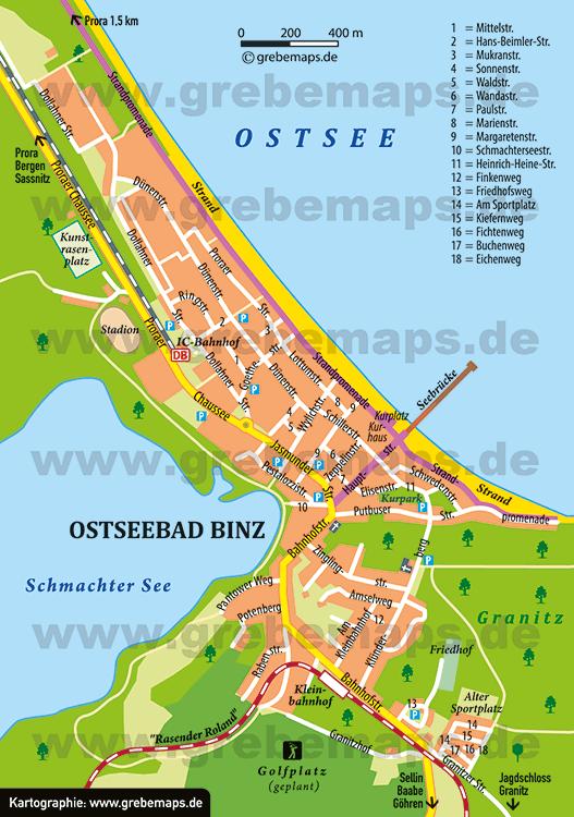 Ostseebad Binz (Ortsplan)