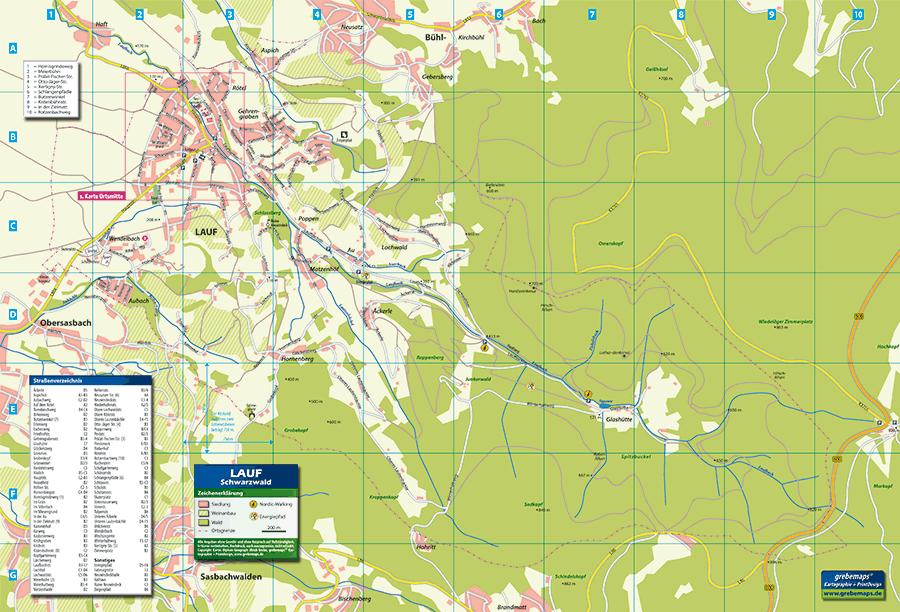 Ortsplan Lauf am Schwarzwald