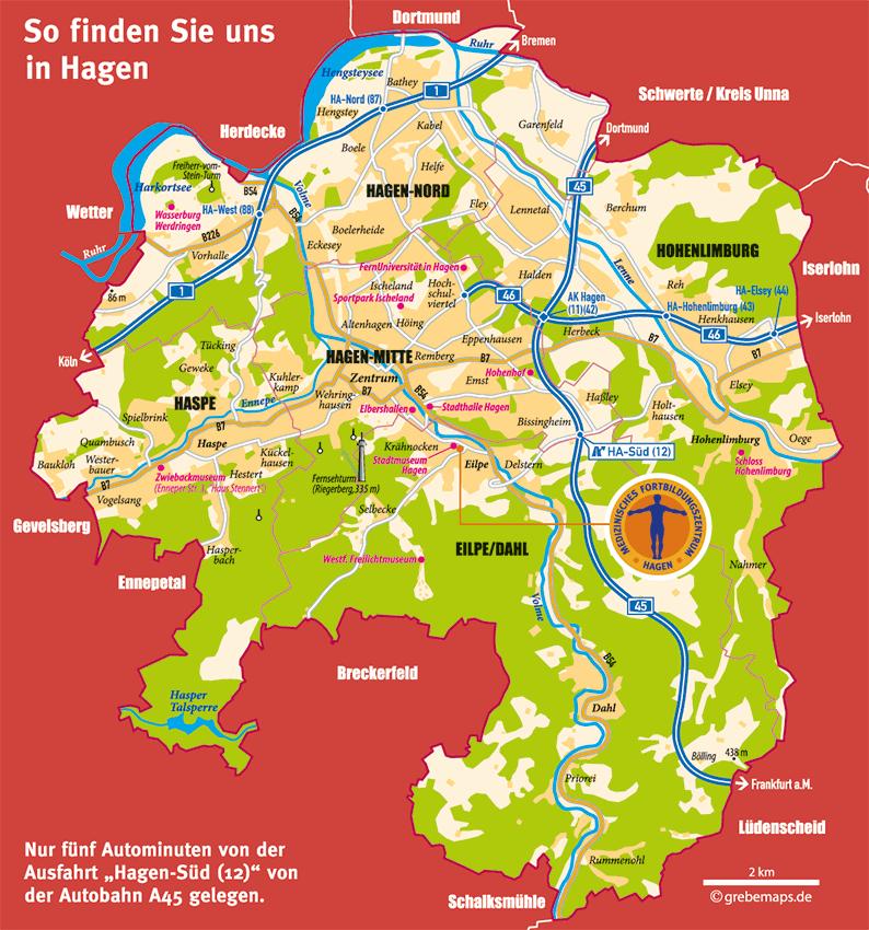 Hagen Übersichtskarte