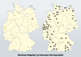 Signaturenmethode, Signaturenkarte, Desktop Mapping, DesktopMapping, Geo-Analyse, Mapping, Kartographie, thematische Kartografie, Daten-Aufbereitung, Daten-Analyse, Daten-Visualisierung, thematische Karte, Karten, Themakarte, Themakarten, Standort-Visualisierung, Analyse, Desktop, Mapping, Aufbereitung, thematische Kartographie